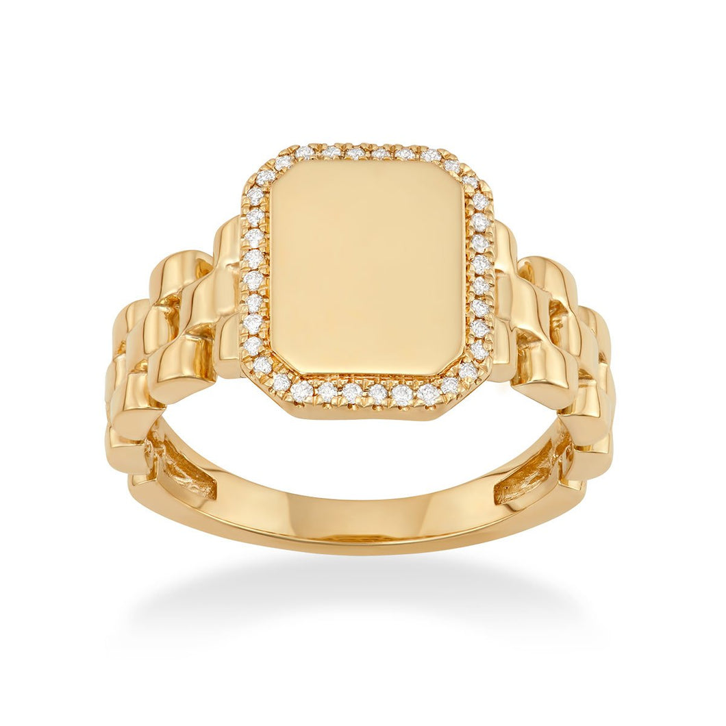 Outline Signet Ring - Serena Williams Jewelry