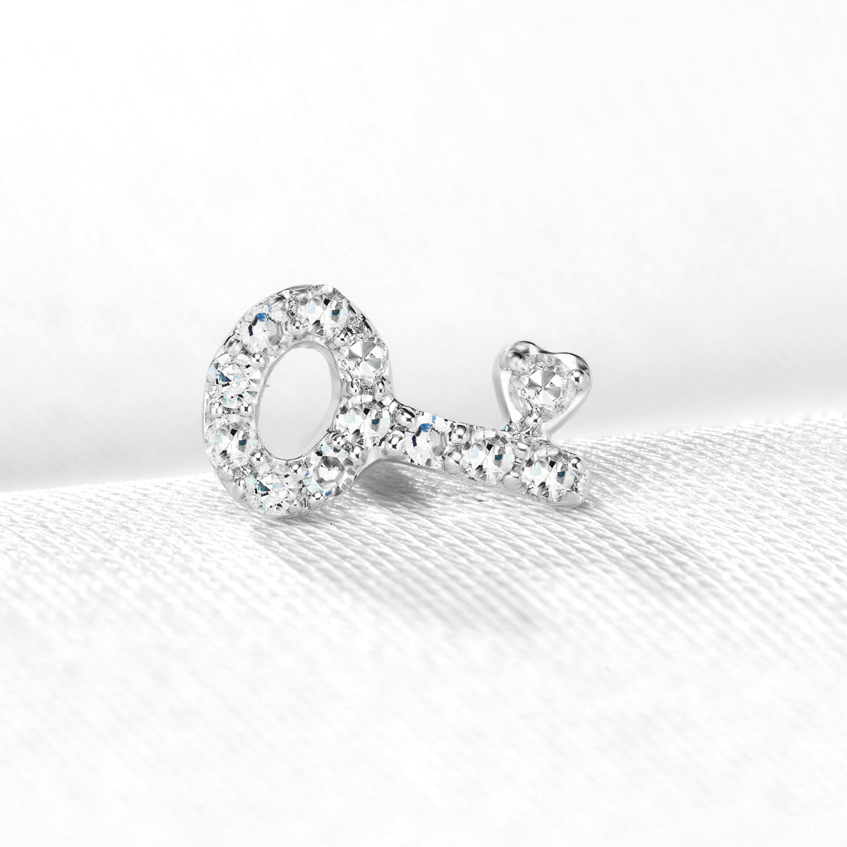 Diamond Key Stud Earrings