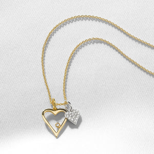 Signature Heart Necklace with Diamond Charm
