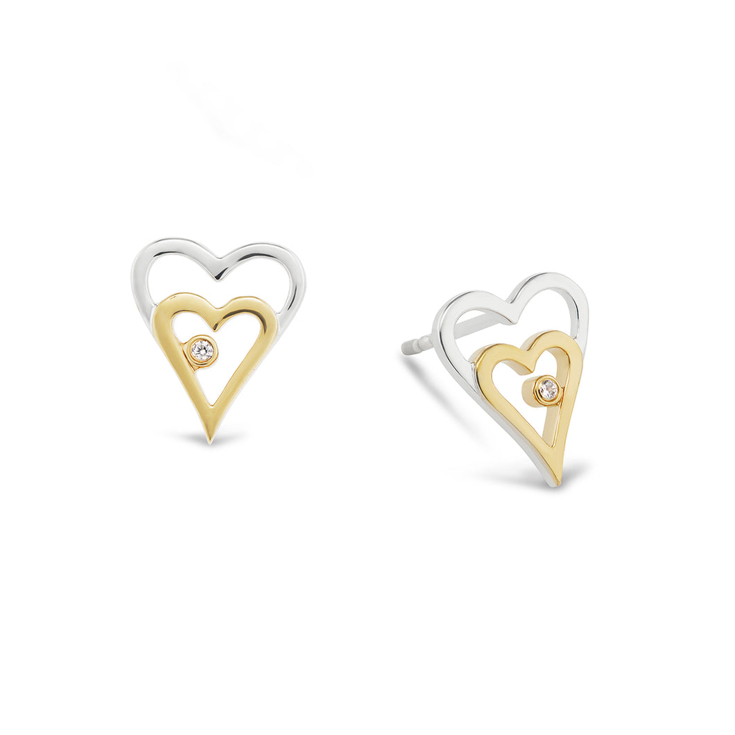 Nestled Heart Earrings