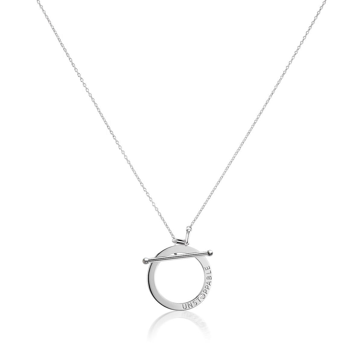 Unstoppable Diamond Toggle Necklace