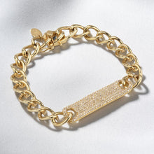 Load image into Gallery viewer, Large Pavé ID Link Bracelet