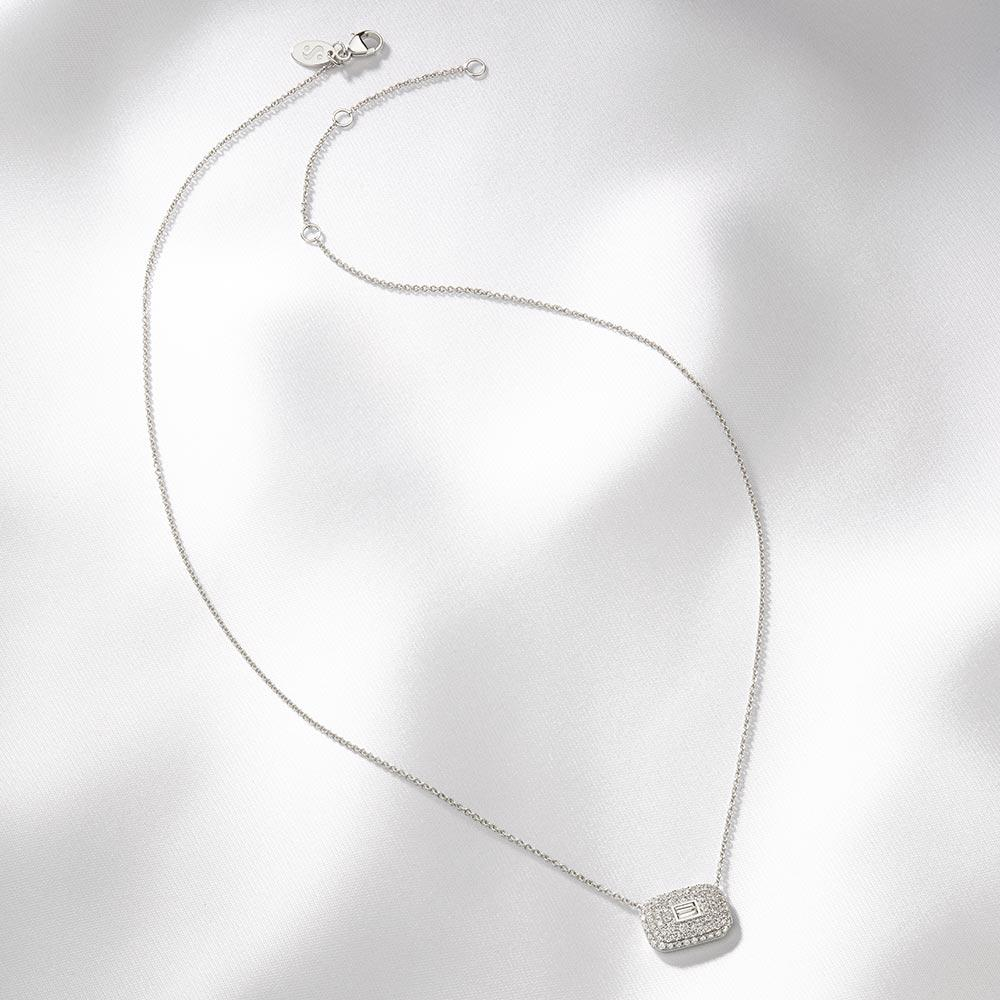 Diamond Ice Cube Necklace - Serena Williams Jewelry