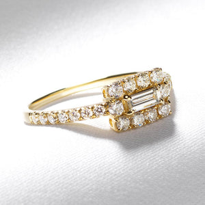Sideways Baguette Ring - Serena Williams Jewelry