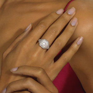 Diamond Ice Cube Ring - Serena Williams Jewelry