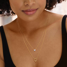 Layered Signature Heart Necklace