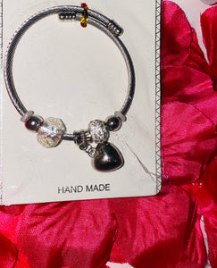 Heart and Beads Bracelet