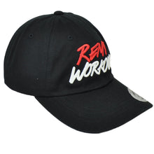 Load image into Gallery viewer, RemyWorkouts Dad Hat Black Cap Adjustable This is Why We Train