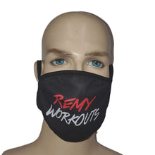 Load image into Gallery viewer, Remy Workouts Face Mask Mouth Washable Fashion Reusable Black Men Women Unisex