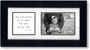 Fair Comparison (Dad) 4x6 Double Picture Frame