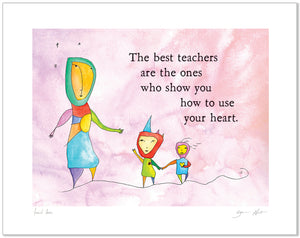Teach Love Calendar Prints
