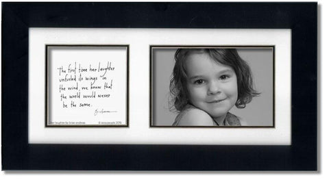 Her Laughter 4x6 Double Picture Frame