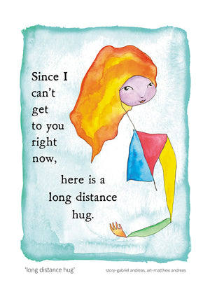 Long Distance Hug Greeting Card
