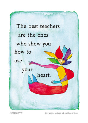 Teach Love Greeting Card