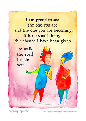Walking Together Greeting Card