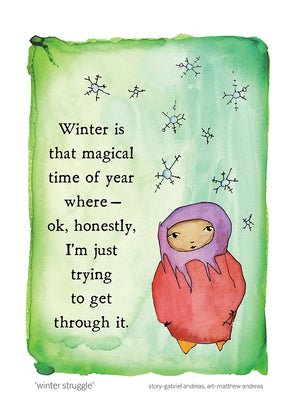 Winter Struggle Greeting Card