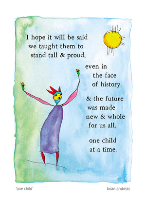 One Child Greeting Card