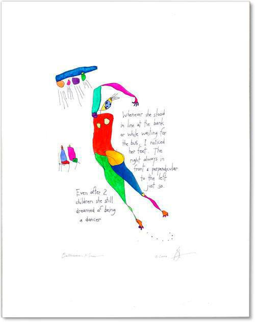 ballerina mom StoryPeople print by Brian Andreas