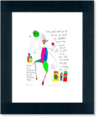 birthdays StoryPeople print by Brian Andreas