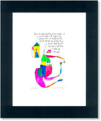 closet angel StoryPeople print by Brian Andreas
