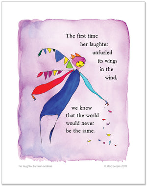 Her Laughter Color Wash Prints