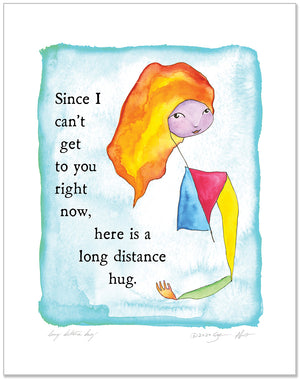 Long Distance Hug Color Wash Prints