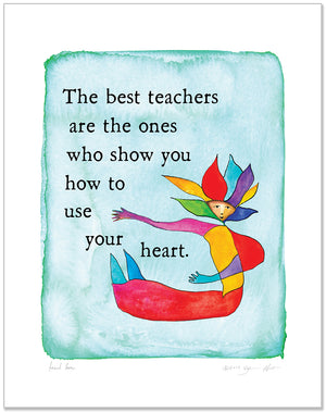 Teach Love Color Wash Prints