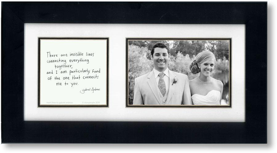 Heart Lines 4x6 Double Picture Frame