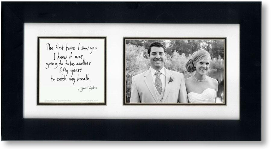 Breathless 4x6 Double Picture Frame