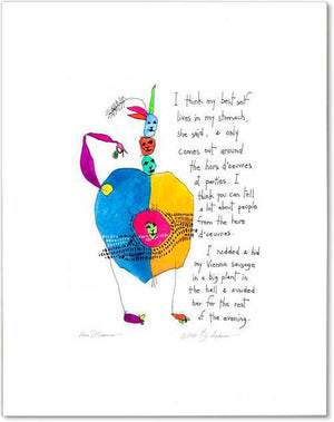 hors doeurvres StoryPeople print by Brian Andreas