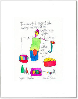 laughter & digestion StoryPeople print by Brian Andreas