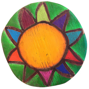 Custom Sun Circle - Dark Green