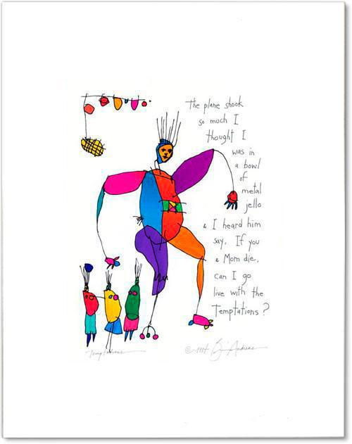 temptations StoryPeople print by Brian Andreas