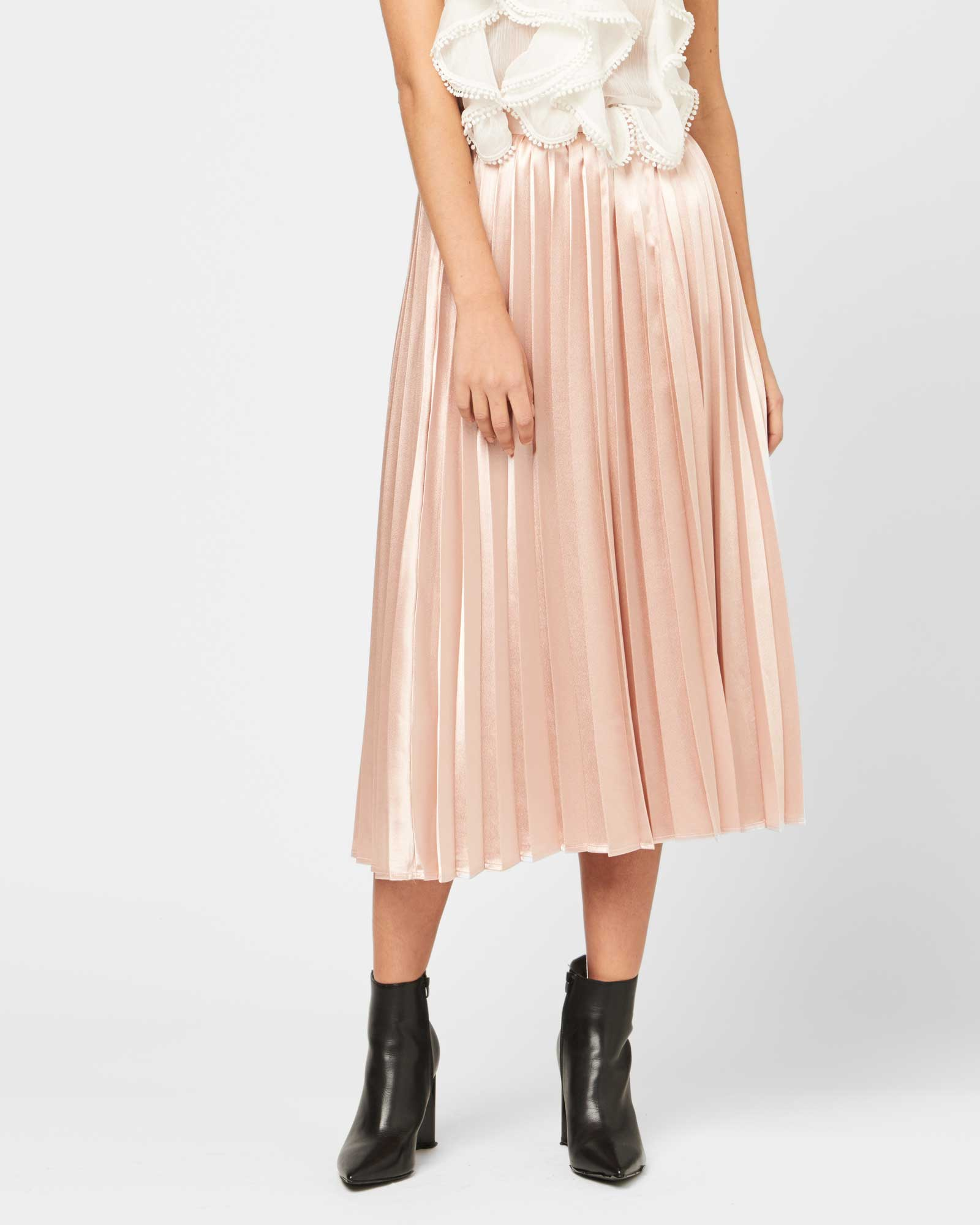 NO RESERVATIONS PLEATED SKIRT