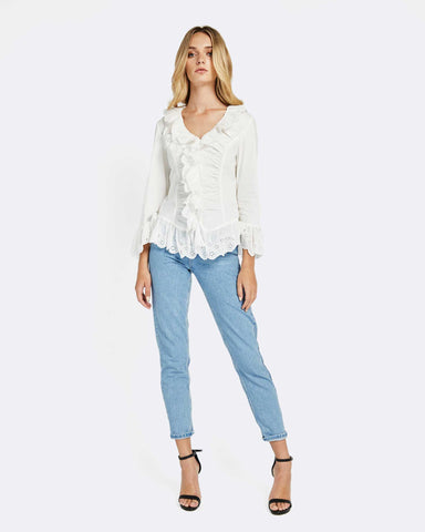 CLOUD NINE RUFFLE SHIRT