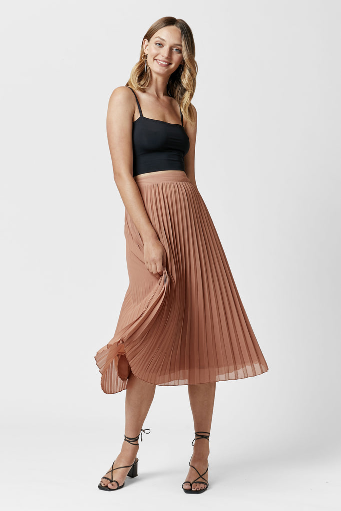 THE SAXON PLEATED SKIRT