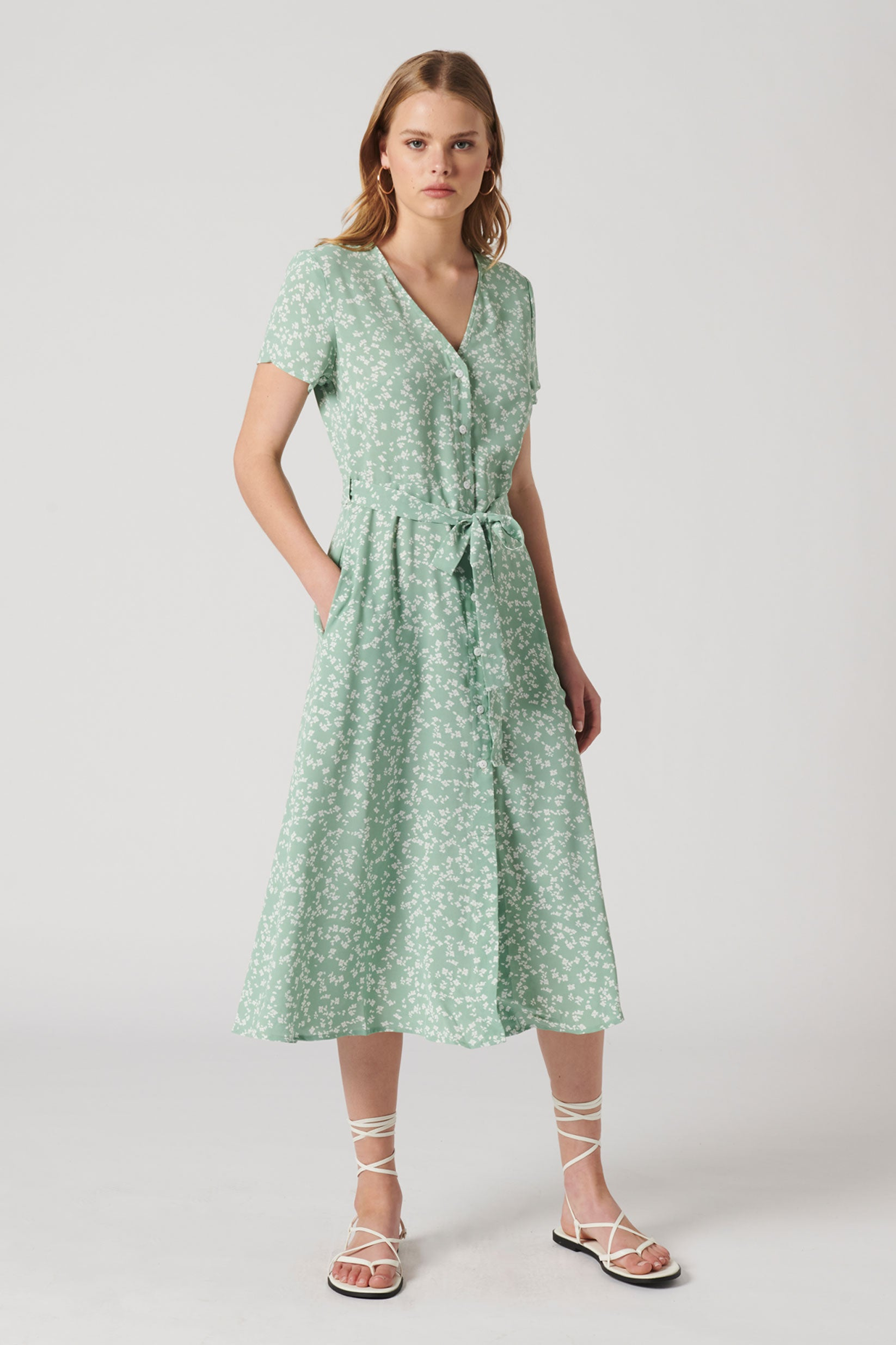 REMINISCENCE MIDI DRESS
