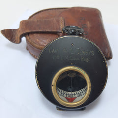 "Captain R. M. Dennys ""Guide"" compass  and case"