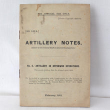 WW1 General Staff Artillery Manual (1917)