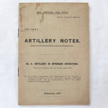 WW1 Artillery Manual  1917 | General Staff