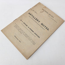WW1 General Staff Artillery Notes 1917 | Compass Library