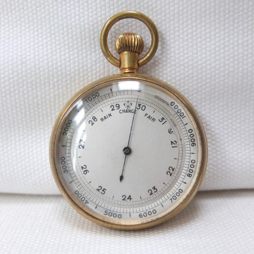 Victorian Pocket Altimeter Barometer c.1890 | Compass Library