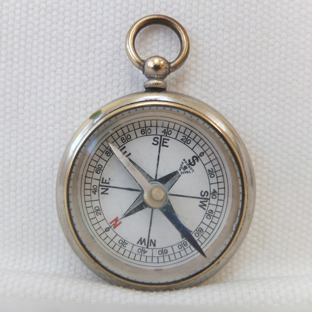 Francis Barker Brass Pocket Compass 1875