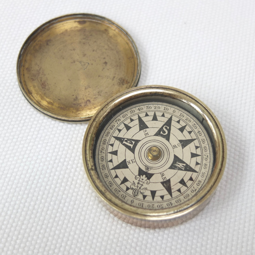 Francis Barker Brass Box Compass c.1875 | Compass Library