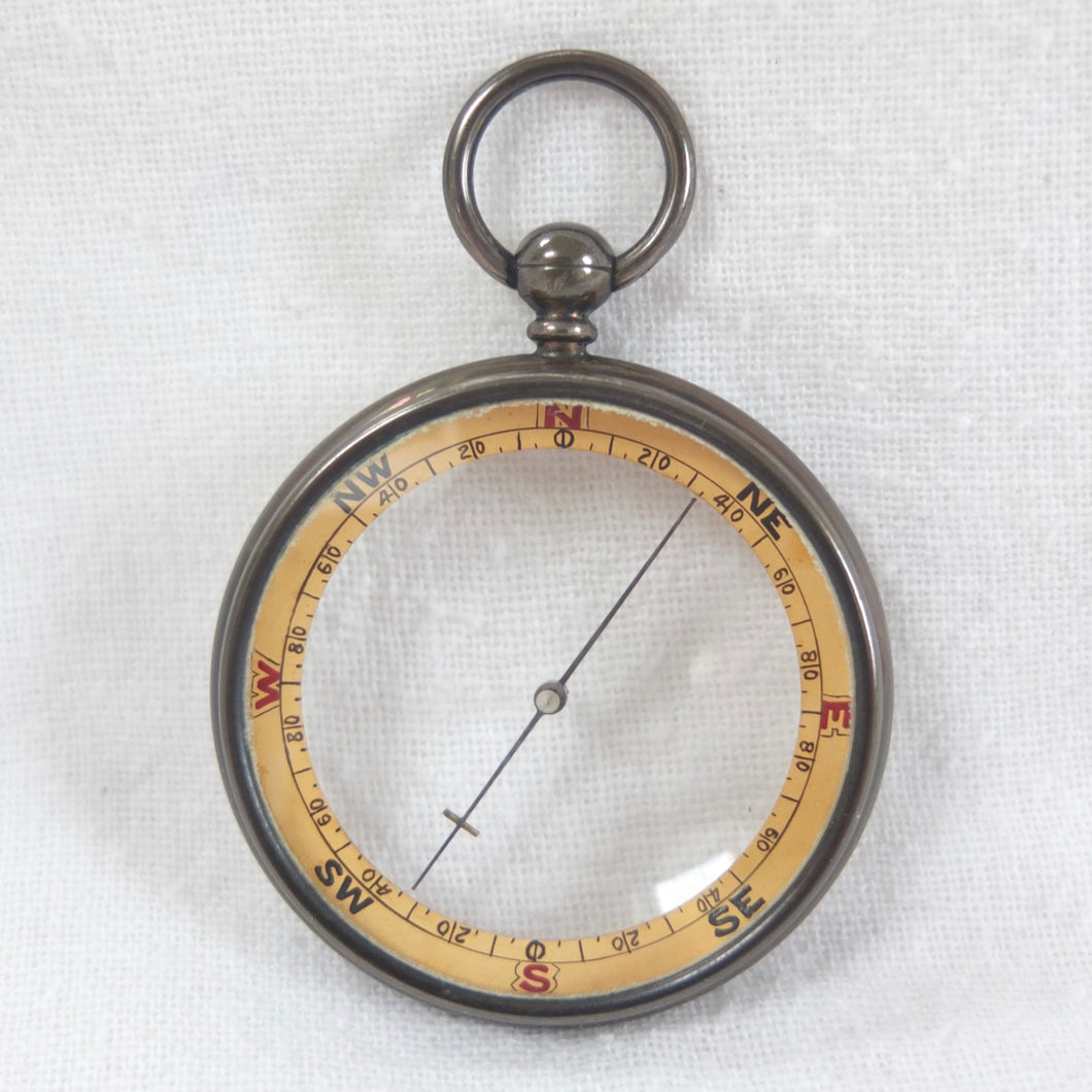 Francis Barker Pebble Lens Pocket Compass c.1890