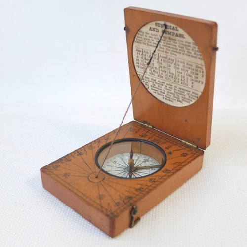 Francis Barker Pocket Sundial Compass c.1875 | Compass Library