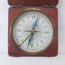 Antique Francis Barker Wooden Compass c.1860 | Compass Library
