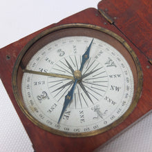 Early Victorian Wooden Box Compass c.1860