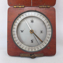 Victorian Wooden Cased Pocket Compass c.1880