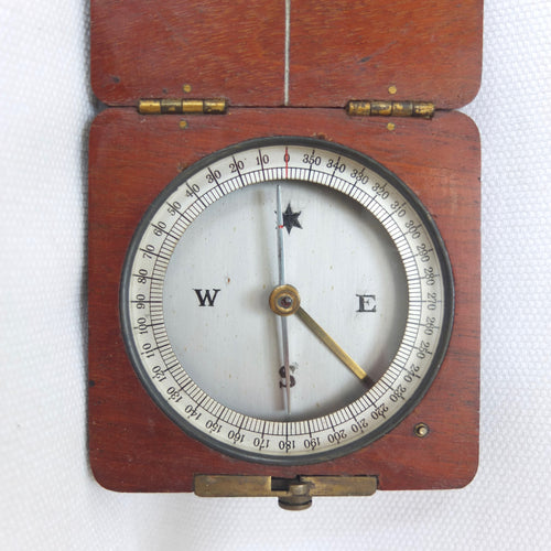 Victorian Wooden Pocket Compass c.1880 | Compass Library